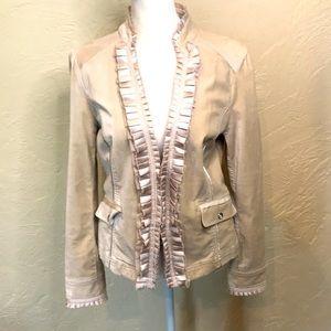 WHBM Ruffled Velvet Jacket, size 10